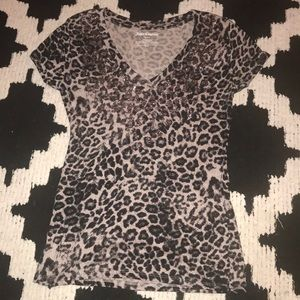 Juicy Couture Sparkly Cheetah V-Neck
